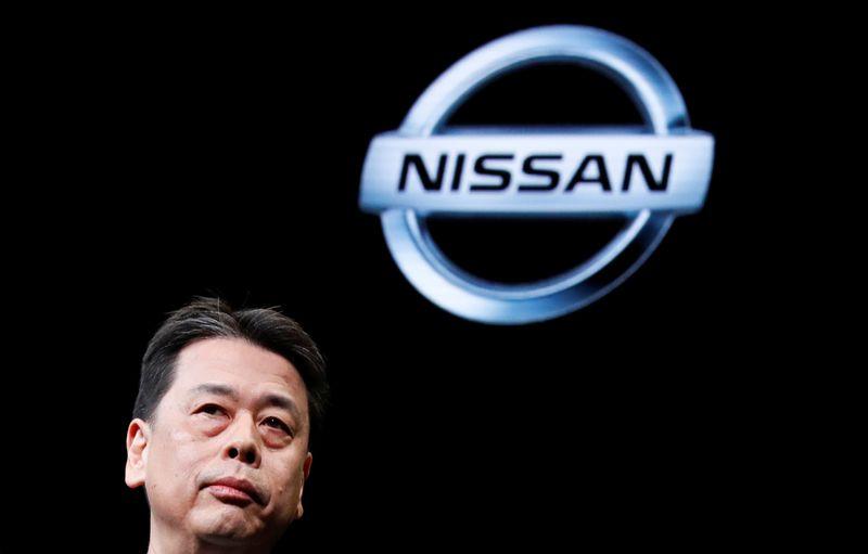 Nissan Motor's CEO Makoto Uchida speaks at a news conference in Yokohama