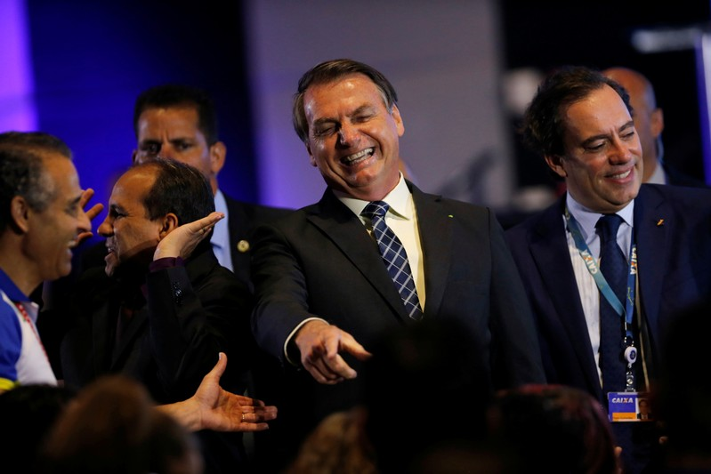 Brazil's President Jair Bolsonaro attends the event