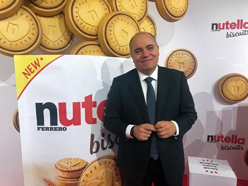 Ferrero Italy CEO Alessandro d'Este attends Nutella biscuit presentation in Milan