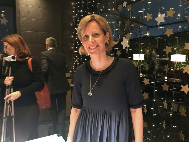 Julia Schwoerer, marketing top executive at Barilla, attends a presentation in Milan