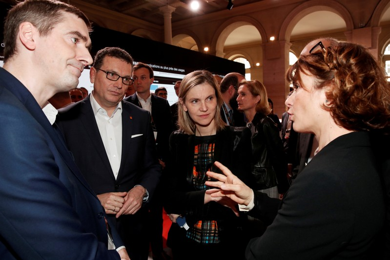 FILE PHOTO: French Junior Minister for Economy and Finance Agnes Pannier-Runacher attends the