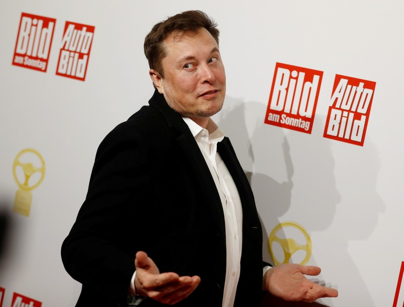 FILE PHOTO: Tesla CEO Elon Musk in Germany in November 2019