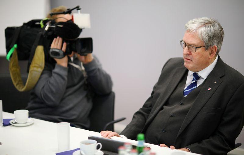 Brandenburg's Economy Minister Steinbach attends a Reuters interview in Berlin
