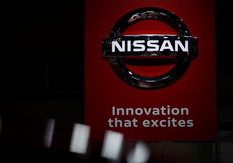 Nissan logo is seen in Tokyo Motor Show in Tokyo