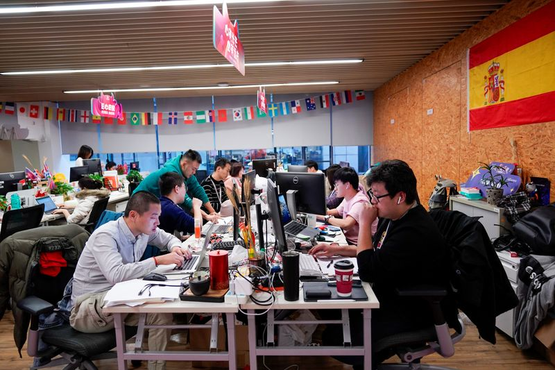 The logo of AliExpress is seen at Alibaba Expansion office at the Alibaba company's