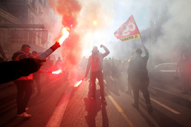 France faces its thirty-six consecutive day of strikes
