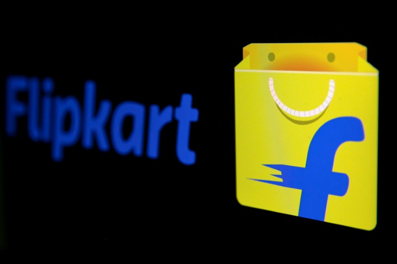 FILE PHOTO: The logo of India's e-commerce firm Flipkart is seen in this illustration picture