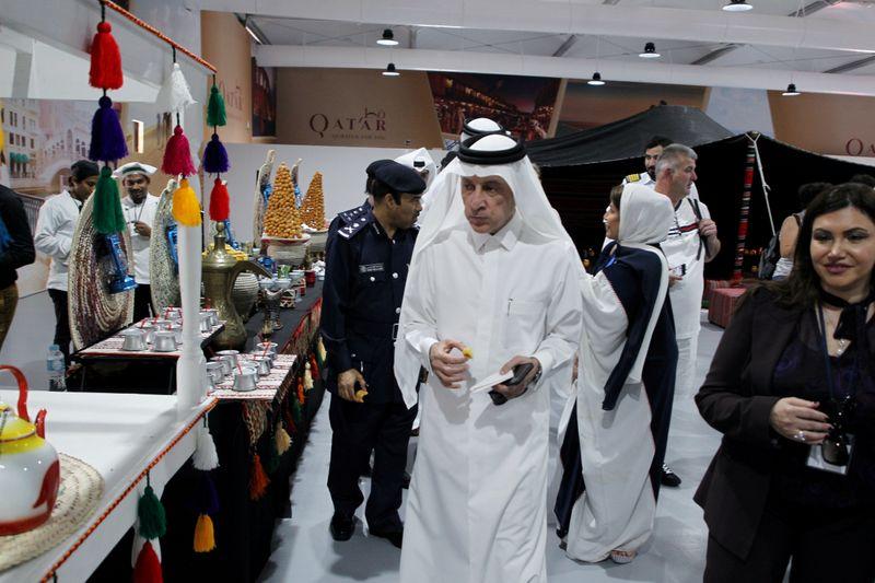 FILE PHOTO: Qatar Airway's Chief Executive Officer, Akbar Al Baker walks at Doha Port building