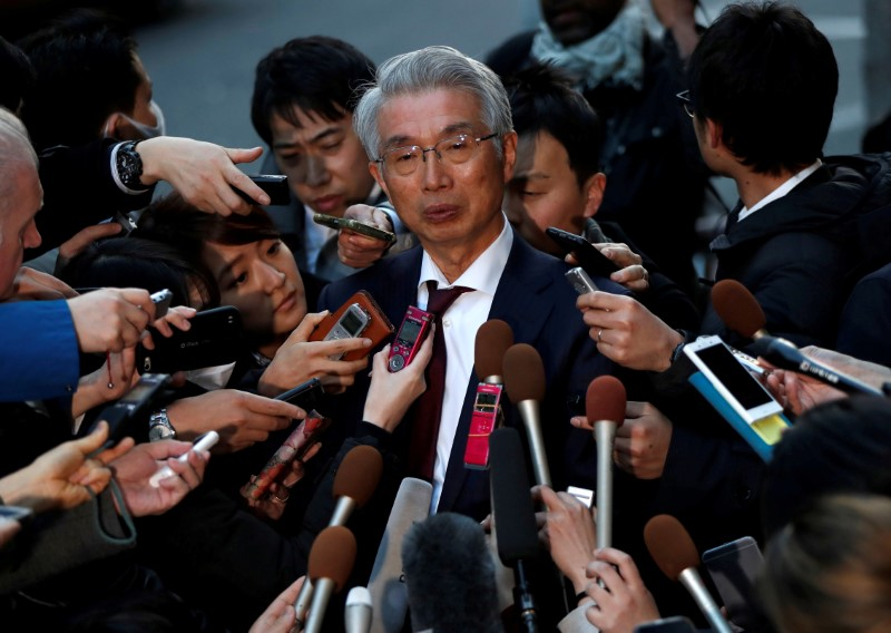 FILE PHOTO: Junichiro Hironaka, chief lawyer of the former Nissan Motor Co. Ltd chairman Carlos