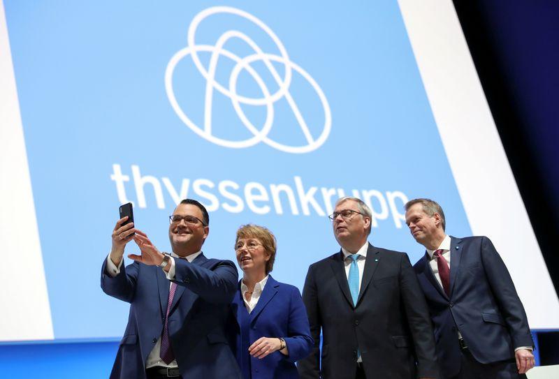 German steelmaker Thyssenkrupp AG annual shareholders meeting in Bochum