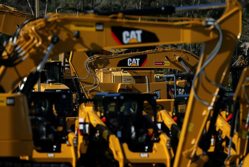 FILE PHOTO: Caterpillar equipment at a retail site in San Diego California