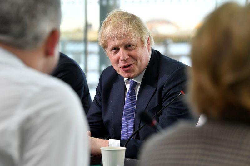 Britain's Prime Minister Boris Johnson visits Sunderland