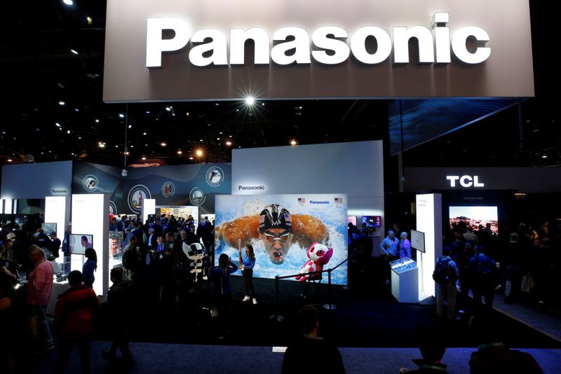 FILE PHOTO: The Panasonic booth is shown during the 2020 CES in Las Vegas