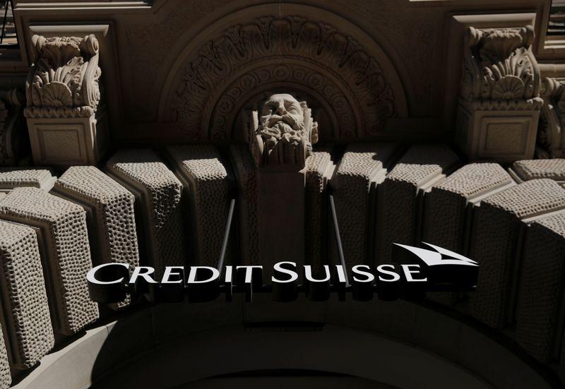 Logo of Swiss bank Credit Suisse is seen Zurich
