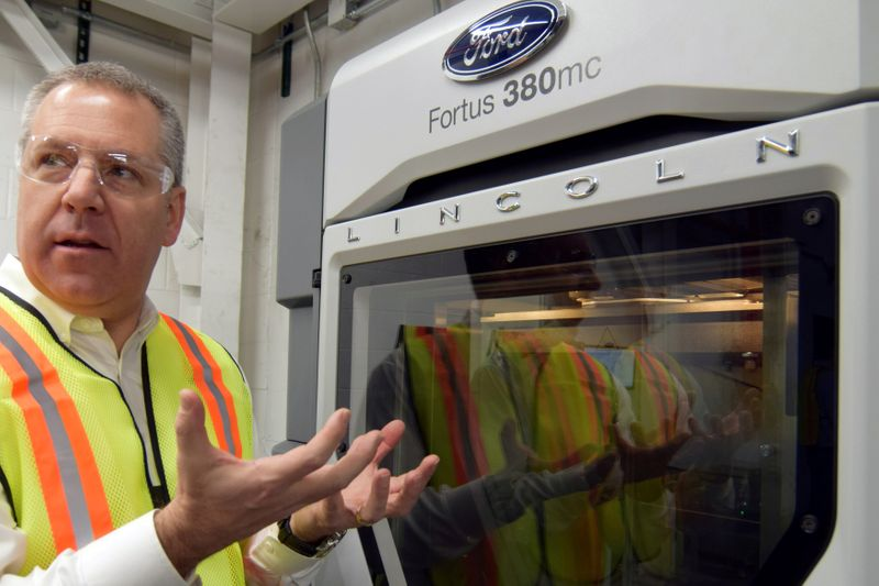 FILE PHOTO: Ford Motor Co's Joe Hinrichs at the company's Kentucky truck plant