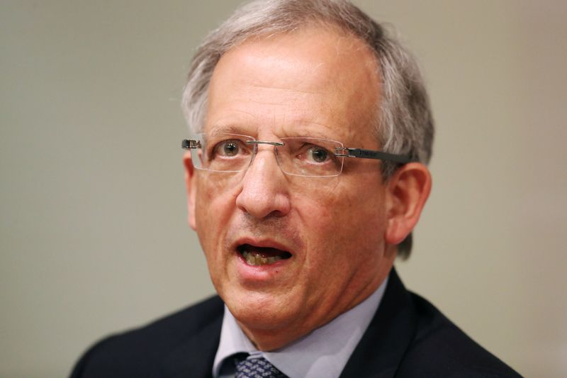 Britain's Deputy Governor of the Bank of England Jon Cunliffe speaks during the Bank of