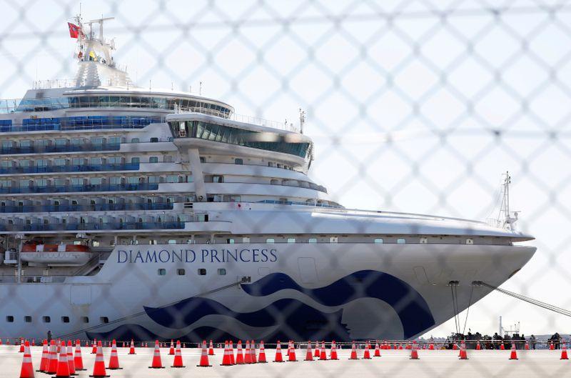 FILE PHOTO: The cruise ship Diamond Princess, where dozens of passengers were tested positive