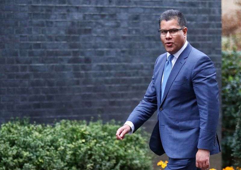 Robert Buckland arrives at Downing Street in London