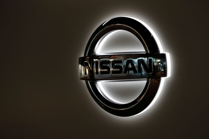Nissan Motor's logo is pictured at its headquarters in Yokohama