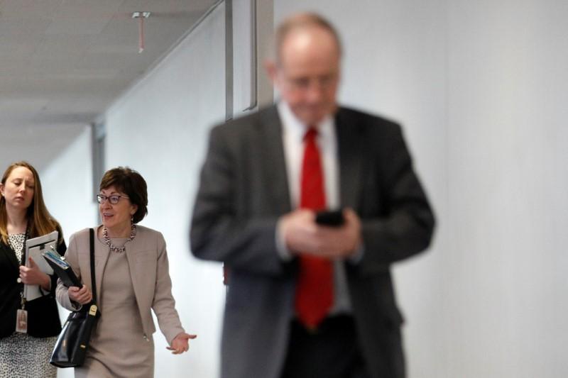 Senate lunch meeting on response to coronavirus outbreak on Capitol Hill in Washington