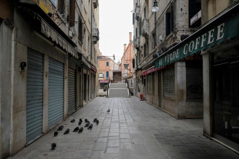 FILE PHOTO: Day six of Italy's nationwide coronavirus lockdown, in Milan