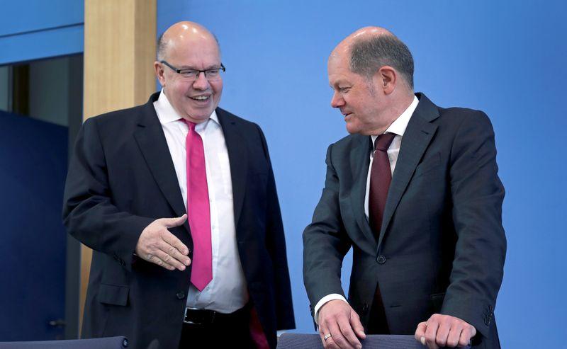 German economy and finance ministers speak on coronavirus impact, in Berlin