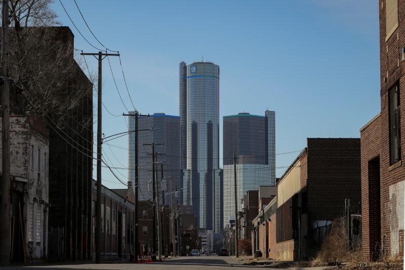 The General Motors Co. headquarters is seen in Detroit, Michigan