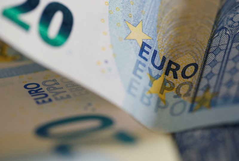 FILE PHOTO: 20 Euro banknotes are seen in a picture illustration, in Bordeaux, Southwestern