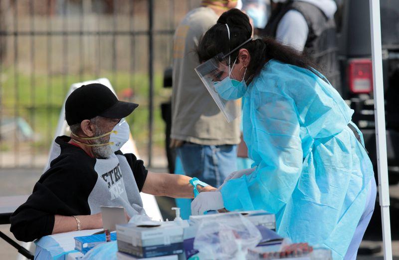 FILE PHOTO: The coronavirus disease (COVID-19) outbreak in Detroit