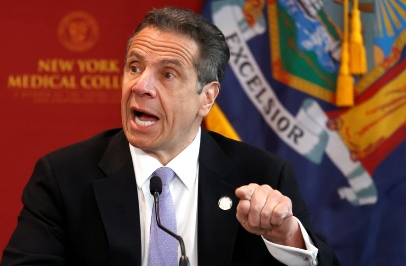 FILE PHOTO: New York Governor Andrew Cuomo holds daily briefing during outbreak of the