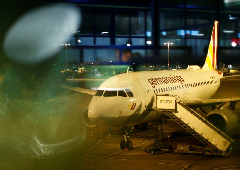 FILE PHOTO: Airbus A319 aircraft of German airline Germanwings is pictured at the Cologne-Bonn