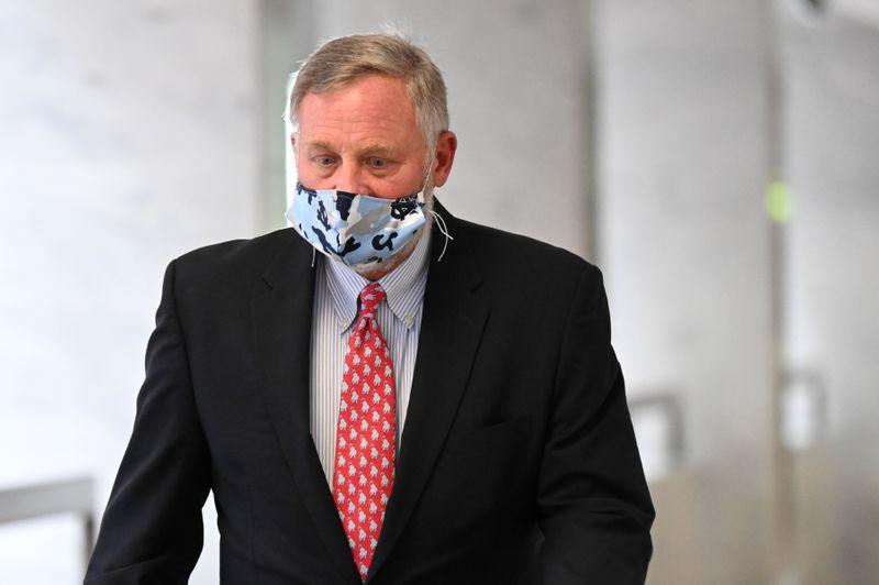Sen. Burr walks to a republican luncheon on Capitol Hill in Washington