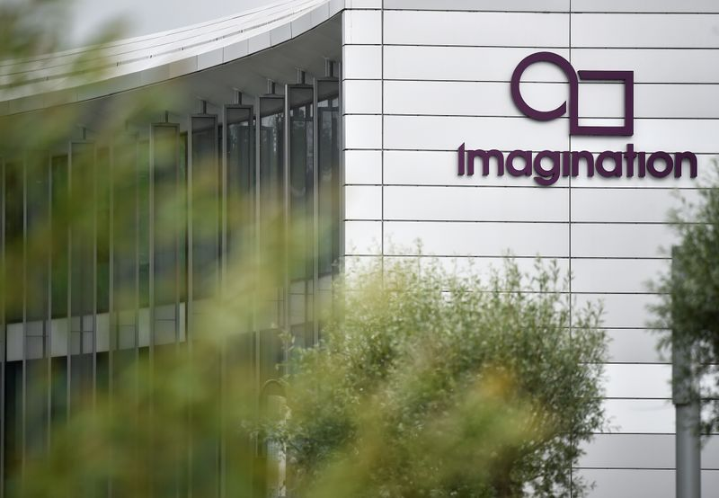 The headquarters of technology company Imagination Technologies is seen on the outskirts of