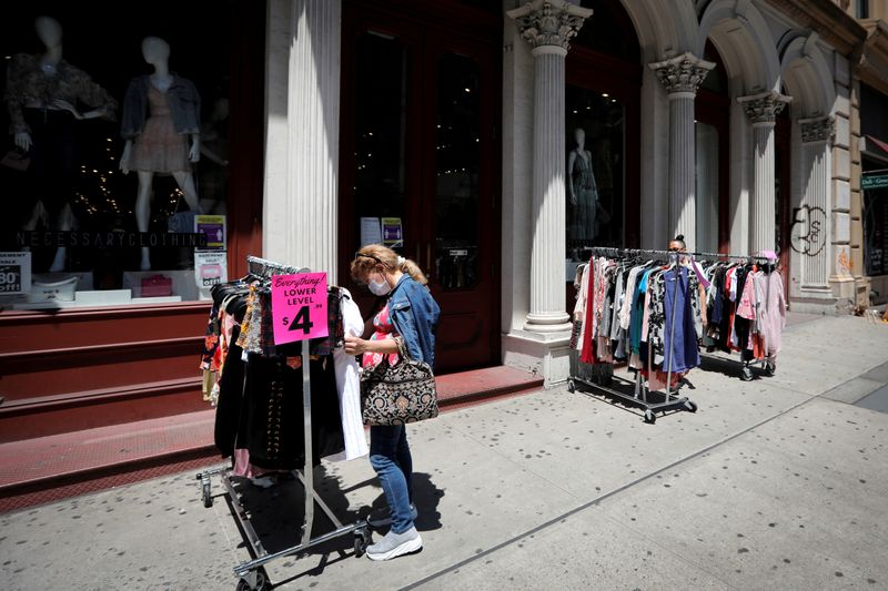 FILE PHOTO: Businesses in New York City on first day of phase two re-opening following outbreak