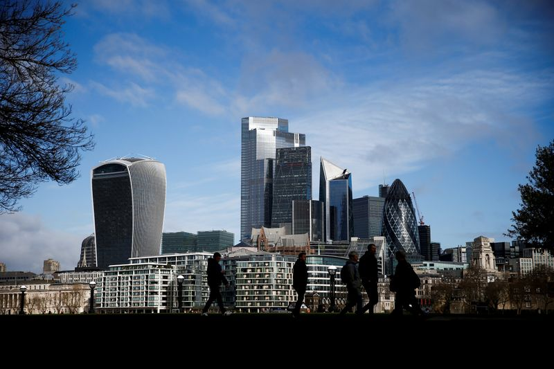 FILE PHOTO: City of London financial district can be seen in London