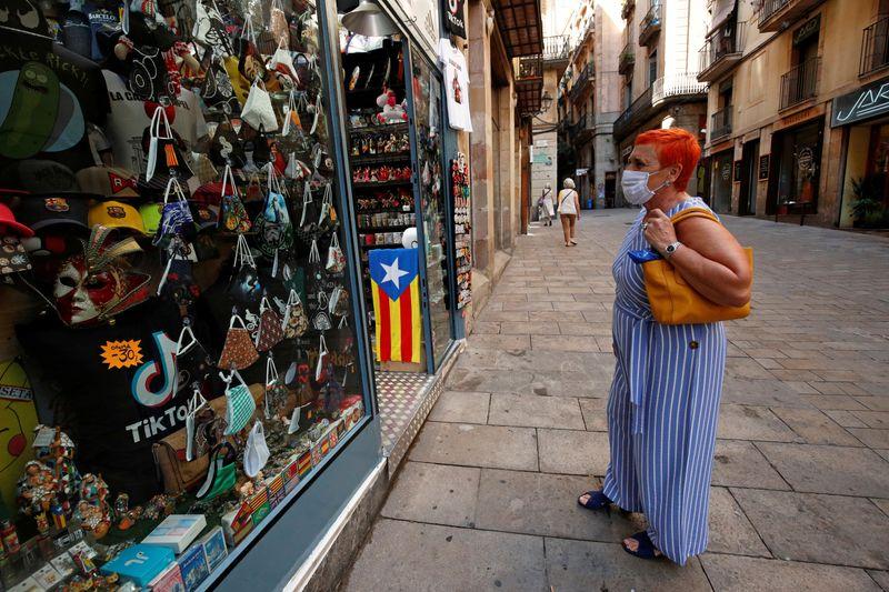 FILE PHOTO: Outbreak of the coronavirus disease (COVID-19) in Barcelona