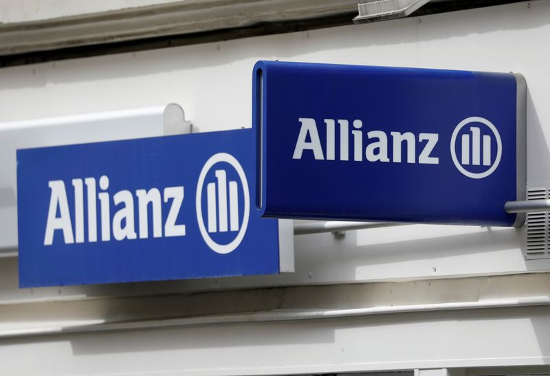 FILE PHOTO: The logo of Allianz is seen in Paris