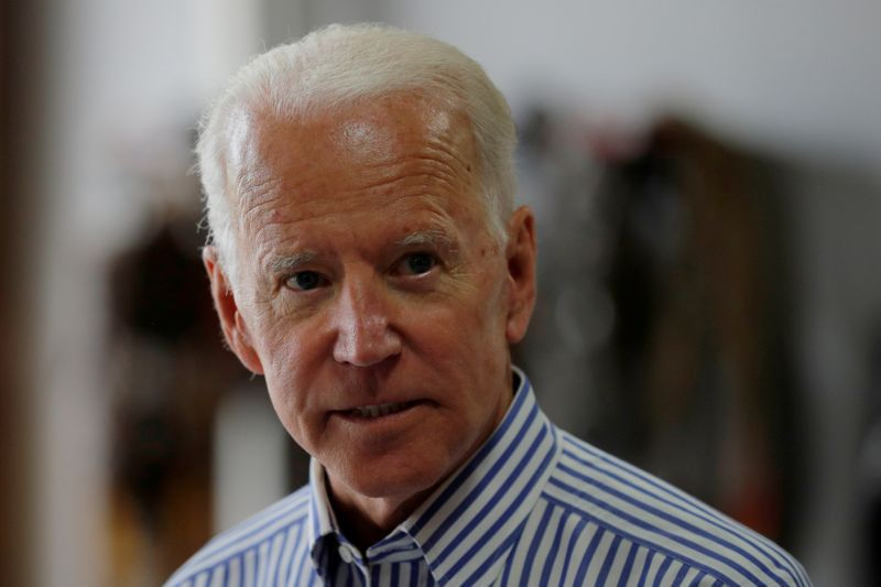 FILE PHOTO: Democratic 2020 U.S. presidential candidate Biden tours the Plymouth Area Renewable