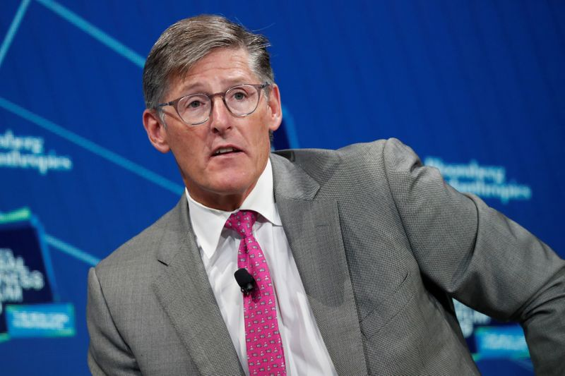 Michael Corbat, CEO of Citigroup, speaks during the Bloomberg Global Business Forum in New York
