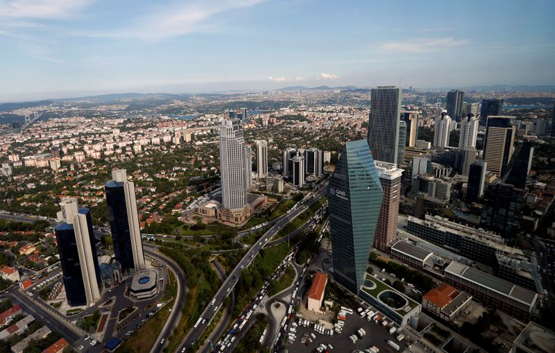 FILE PHOTO: Bussiness and financial district of Levent, which comprises banks' headquarters and