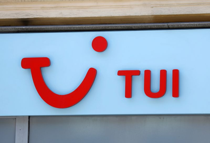 FILE PHOTO: Logo of Germany-based travel company TUI