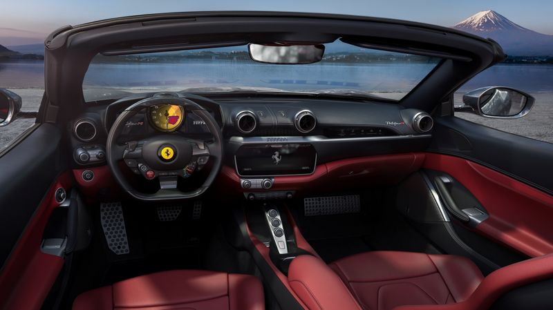Luxury sports car maker Ferrari unveils its new model