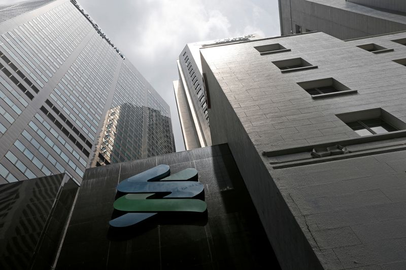 FILE PHOTO: A view of a Standard Chartered bank branch in Singapore