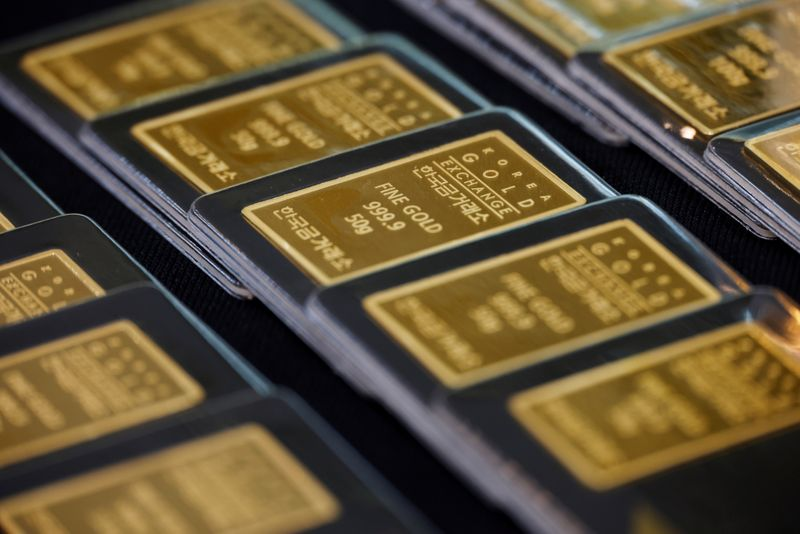 FILE PHOTO: Gold bars are seen in the vault of the branch office of precious metal trader