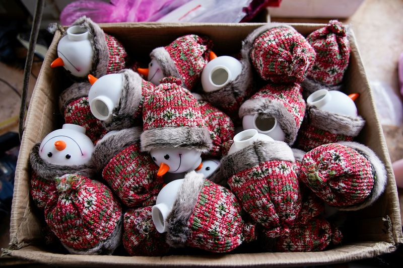Christmas products are seen at Fuye toy factory following the coronavirus disease (COVID-19)