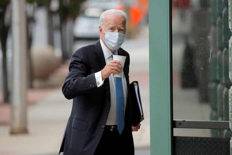 FILE PHOTO: U.S. Democratic presidential candidate and former Vice President Joe Biden arrives