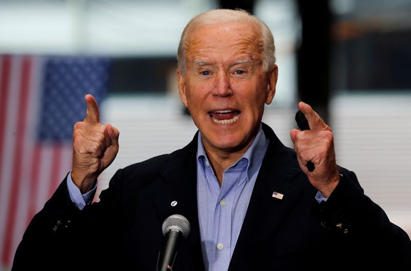 FILE PHOTO: U.S. Democratic presidential candidate and former Vice President Joe Biden