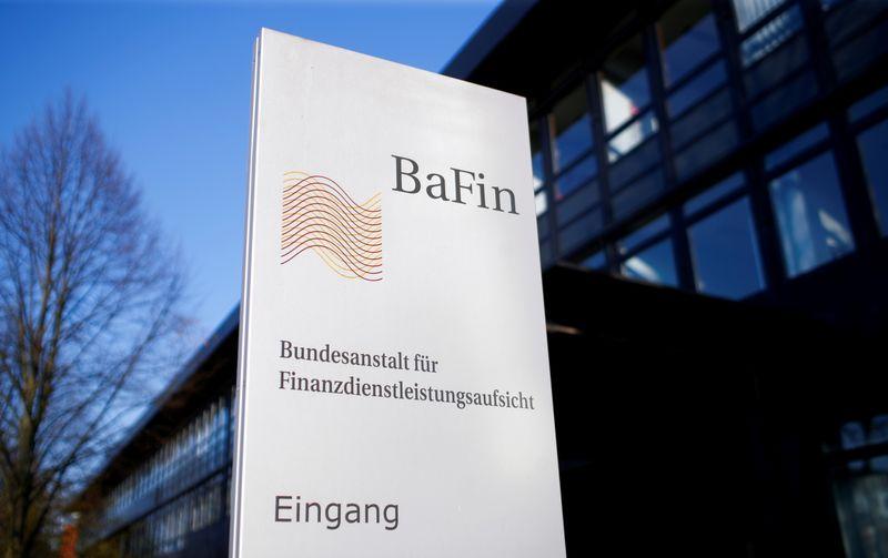 FILE PHOTO: The logo of Germany's Federal Financial Supervisory Authority BaFin (Bundesanstalt