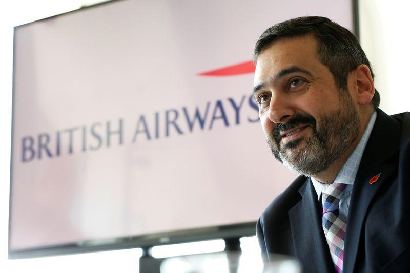 FILE PHOTO: British Airways CEO Alex Cruz speaks during a news conference in Tel Aviv