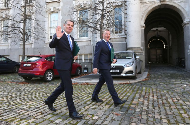 Irish Finance Minister Paschal Donohoe and Michael McGrath Minister for Public Expenditure and